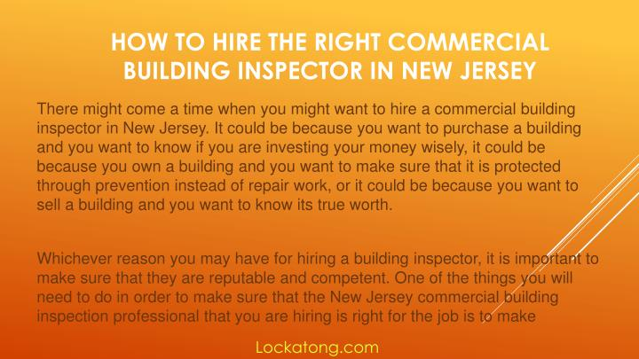 How to hire the right commercial building inspector in new jersey1