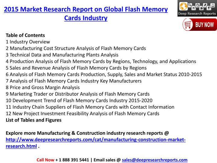 2015 Market Research Report on Global Flash Memory Cards Industry