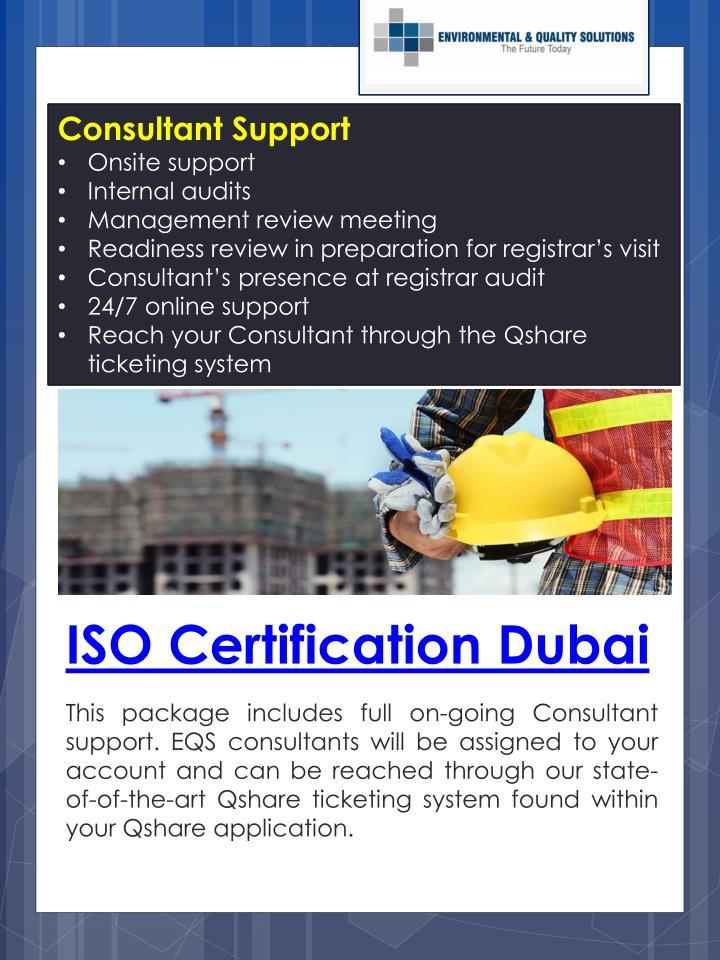 Consultant Support