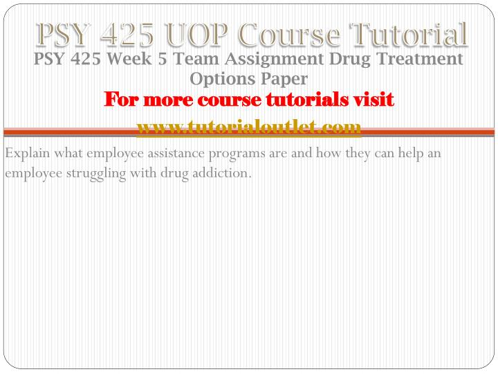 PSY 425 UOP Course