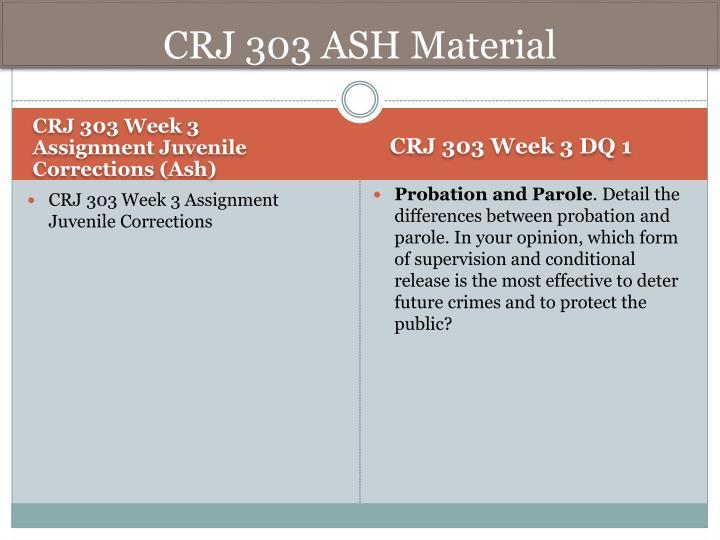 CRJ 303 ASH Material
