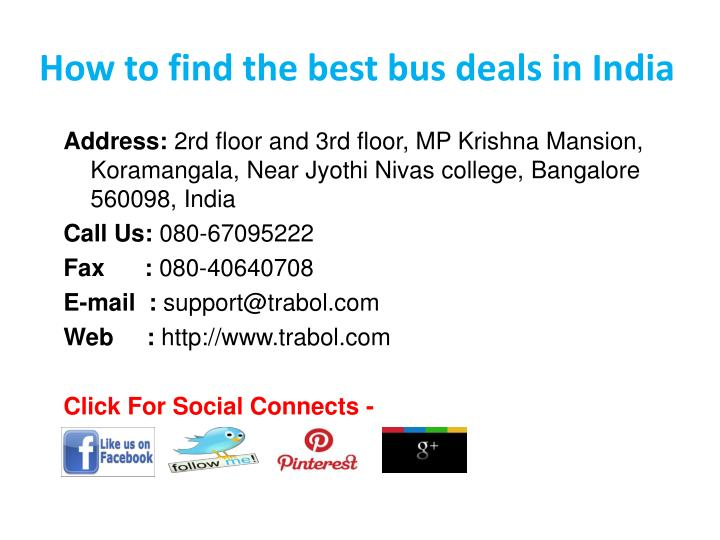 How to find the best bus deals in India