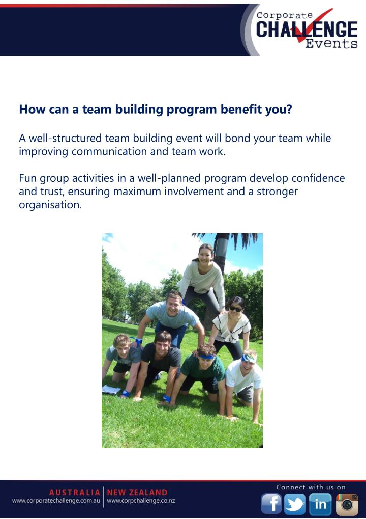 How can a team building program benefit you?