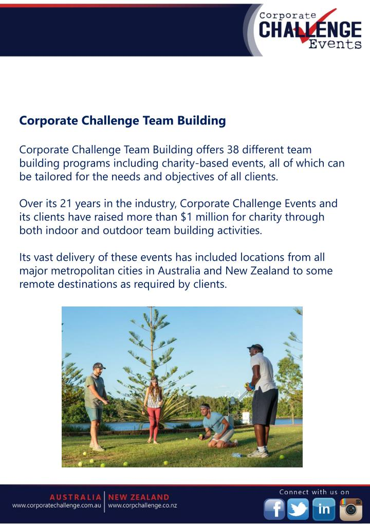 Corporate Challenge Team Building