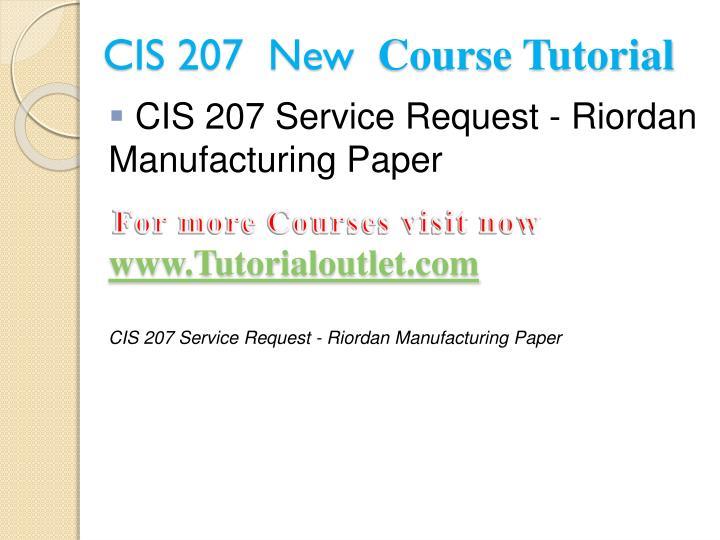 CIS 207  New