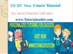 cis 207 new course tutorial7