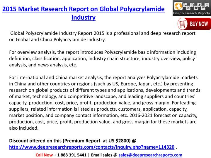 2015 Market Research Report on