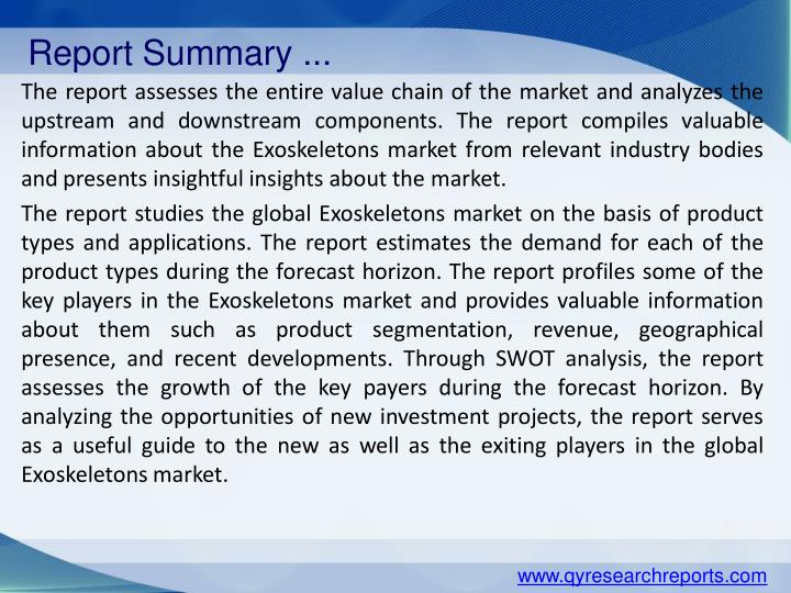 Report Summary ...