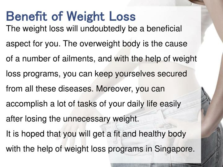 Benefit of Weight Loss
