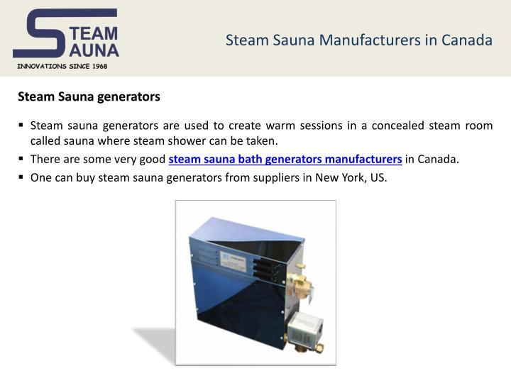Steam Sauna Manufacturers in Canada