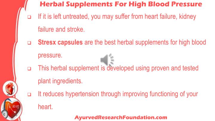 Herbal Supplements For High Blood Pressure