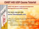 bus 630 ash course tutorial5