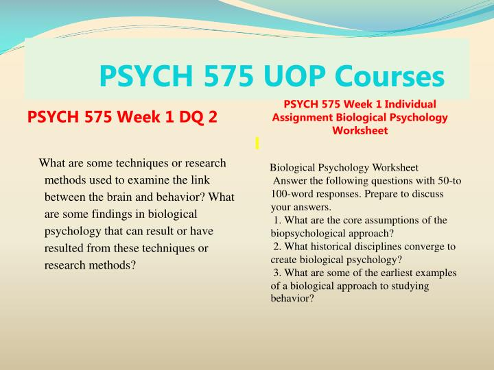 Psych 575 uop courses2