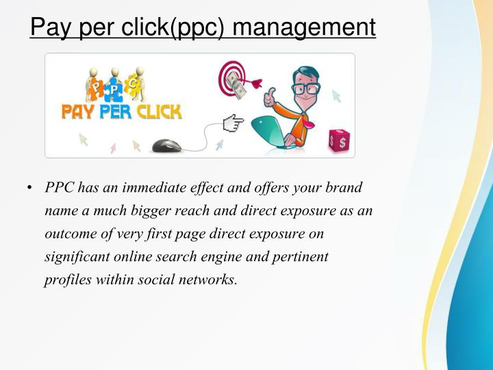 Pay per click(ppc) management