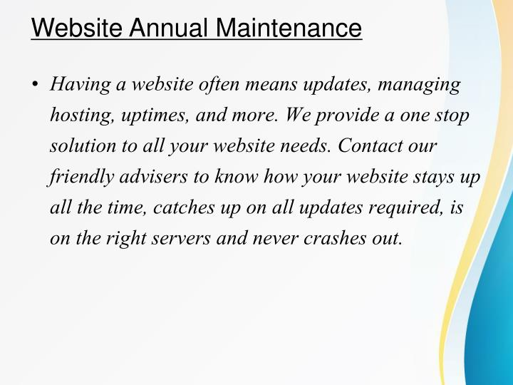 Website Annual Maintenance