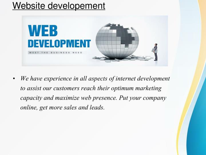 Website developement