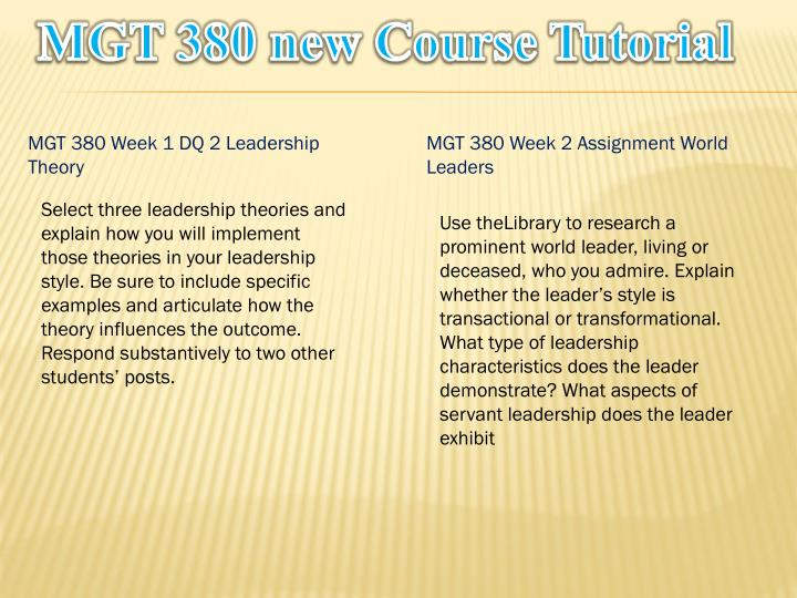 Mgt 380 new course tutorial1