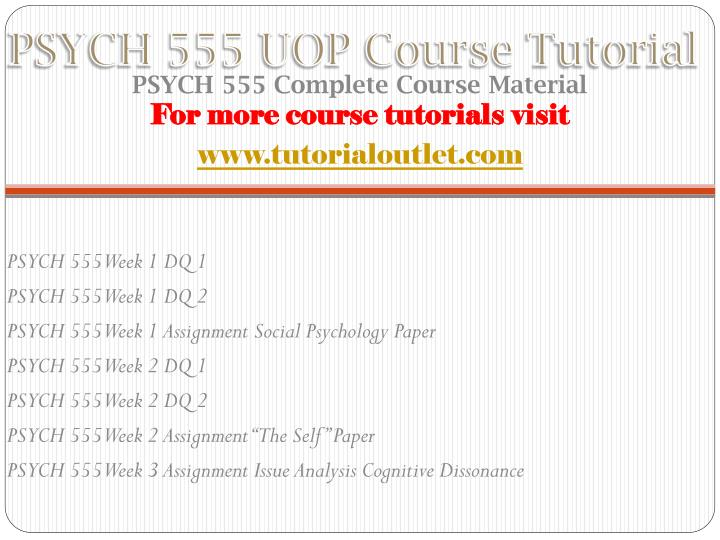 Psych 555 uop course tutorial