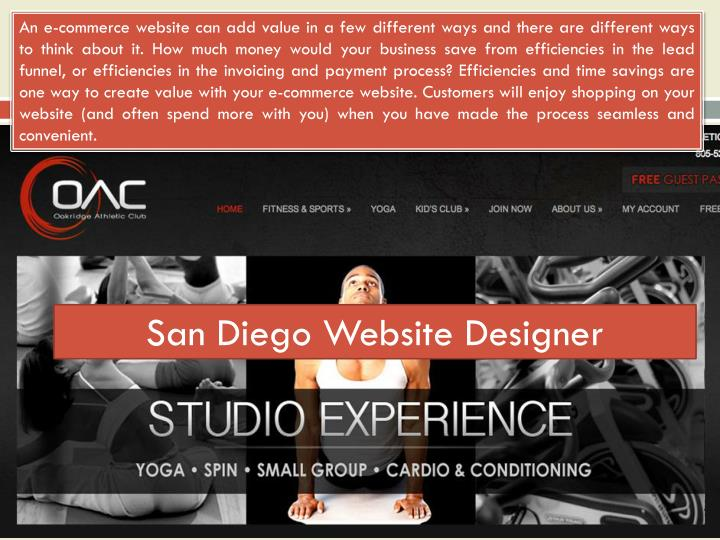 San diego website designer