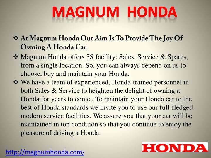 MAGNUM  Honda