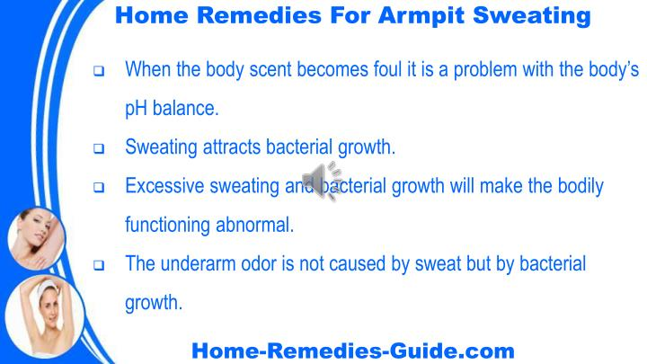 Home Remedies For Armpit Sweating