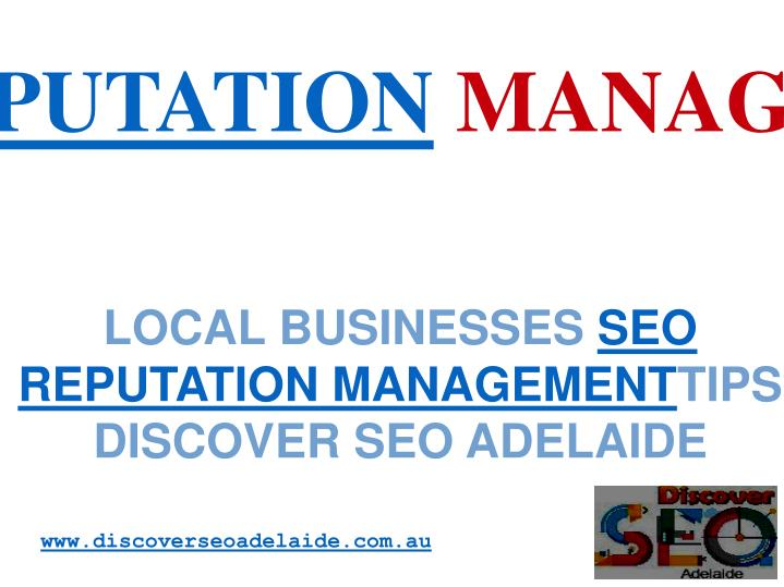 Local businesses seo reputation management tips discover seo adelaide