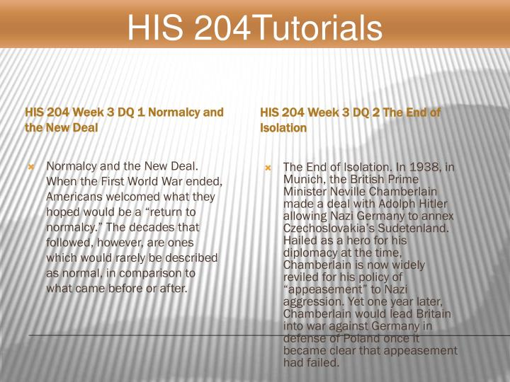 HIS 204Tutorials