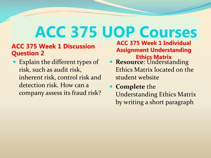 ACC 375 UOP Courses