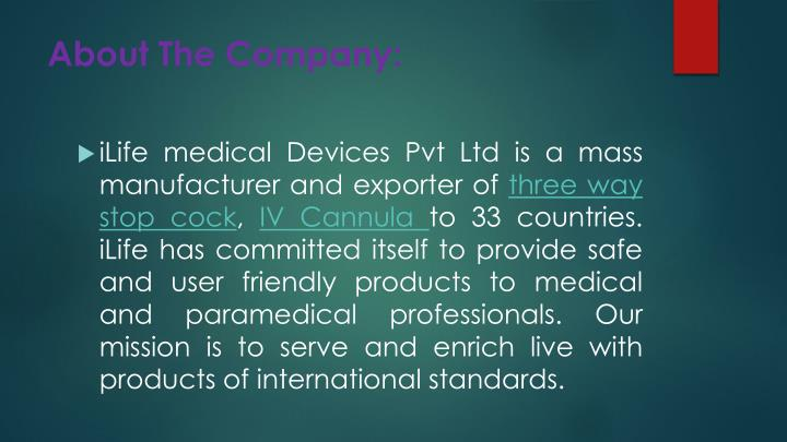 About The Company: