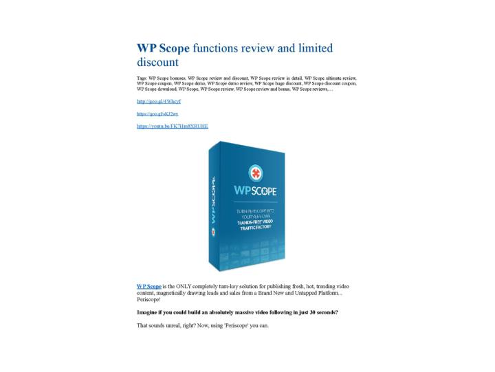 Wp scope review bonus i was shocked