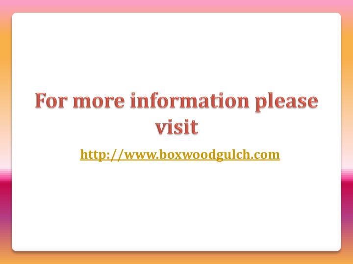 http://www.boxwoodgulch.com