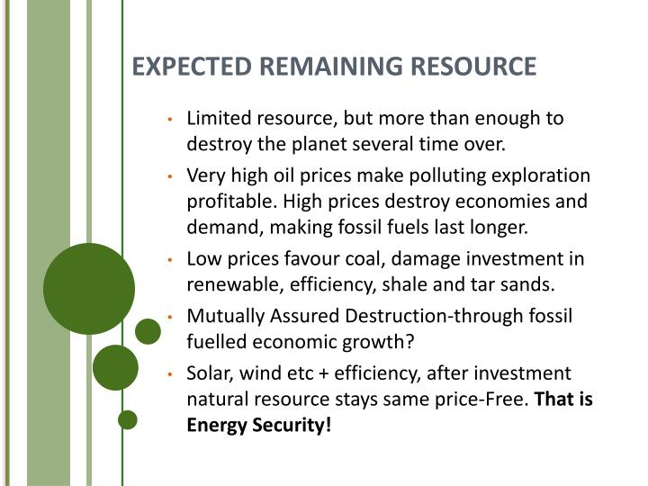 EXPECTED REMAINING RESOURCE