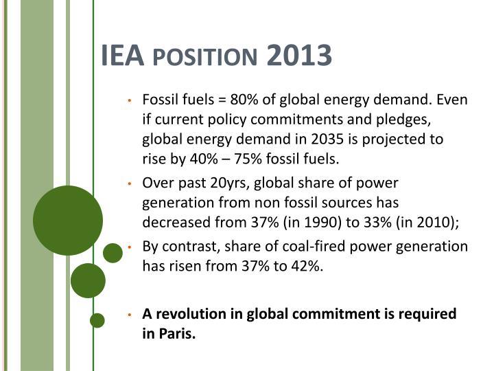 IEA position 2013