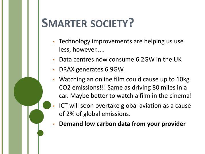 Smarter society?