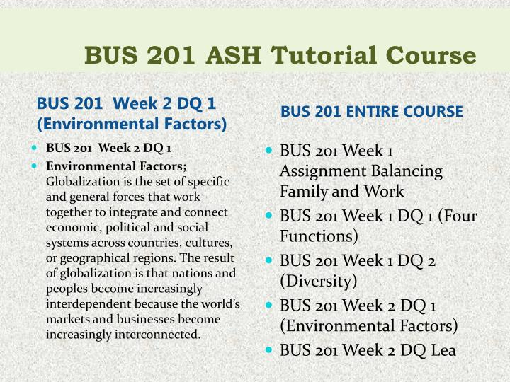 Bus 201 ash tutorial course1