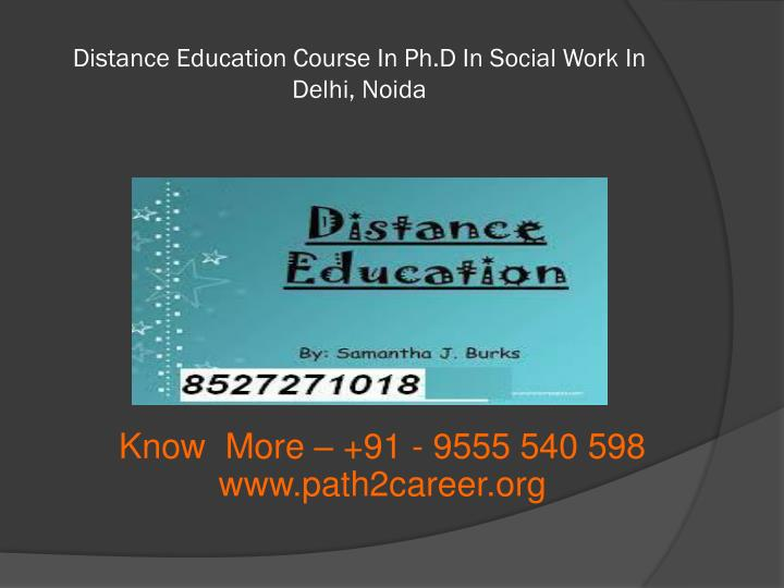 Distance Education Course In