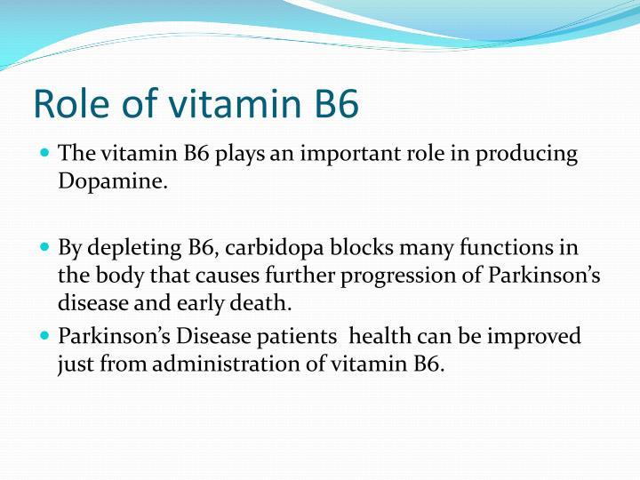 Role of vitamin B6
