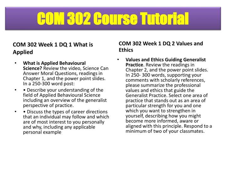 COM 302 Course