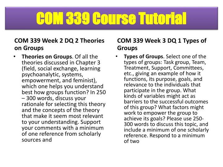 COM 339 Course