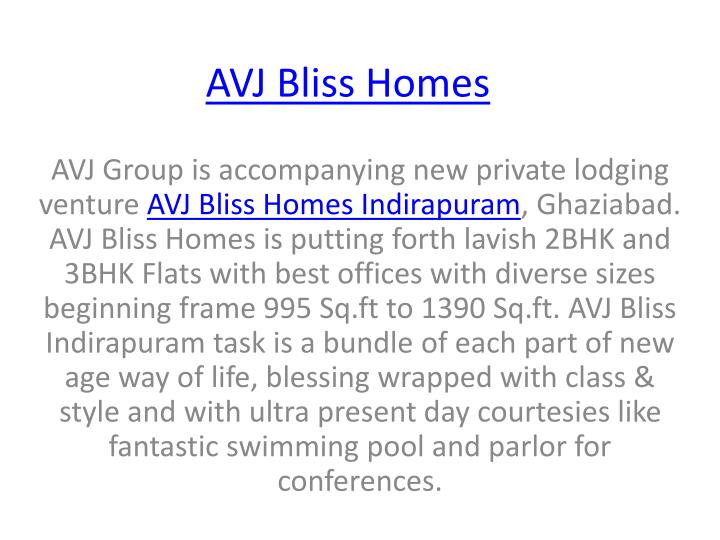 AVJ Bliss Homes