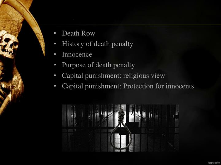 Death Penalty Research Papers