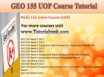 geo 155 uop course tutorial
