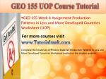 geo 155 uop course tutorial11