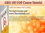 geo 155 uop course tutorial13