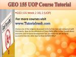 geo 155 uop course tutorial7
