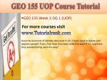 geo 155 uop course tutorial9