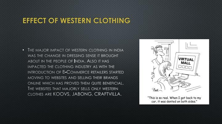 Effect of Western
