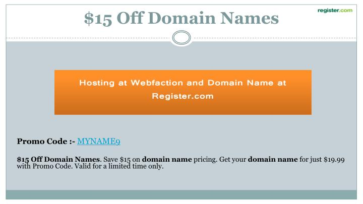 $15 Off Domain Names