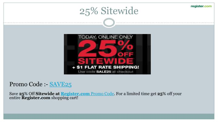 25% Sitewide
