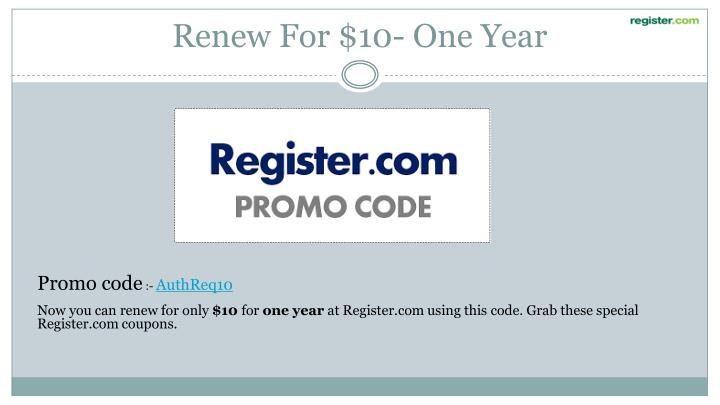 Renew For $10- One Year